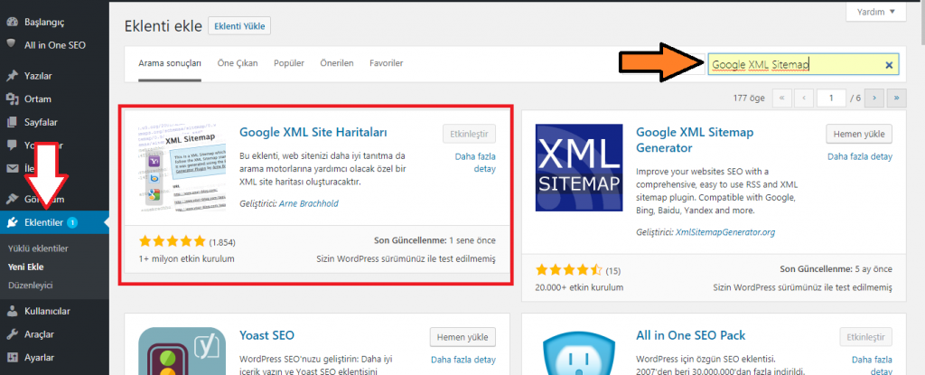 wordpress-google-site-map-xml