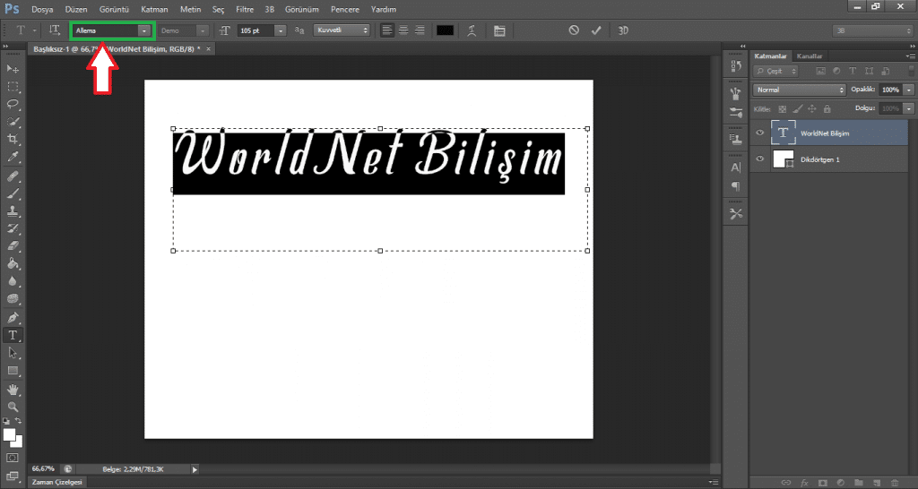 photoshop-font-ekleme-worldnet-bilisim